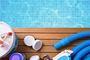 Chemical Products And Tools For Pool Maintenance